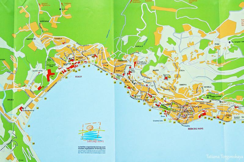 Карта Херцег Нови и Игало