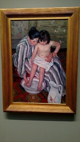 Chicago Art Institute Mary Cassatt Child's Bath