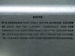Bristol Hackspace: Tek 115 Solder Notice