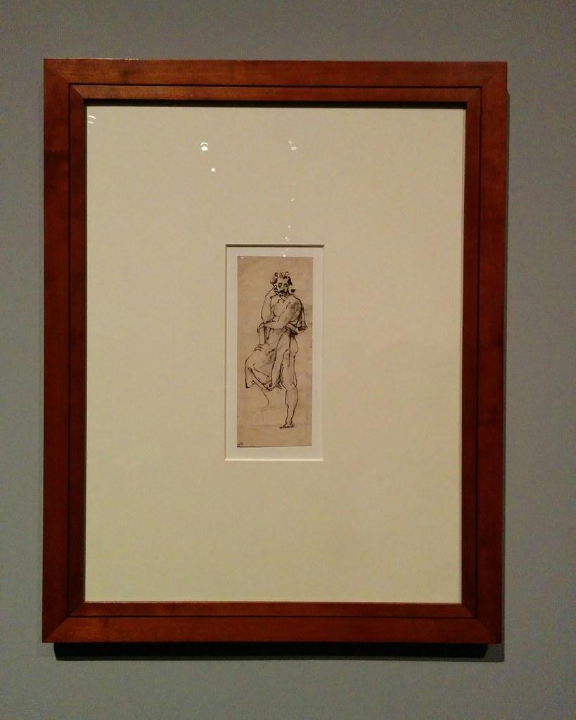 Sketch for a Standing Male Figure (Saint John the Evangelist) #newyorkcity #newyork #metmuseum #metmichaelangelo #michaelangelo #drawing #latergram