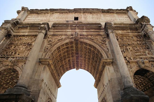 Entering the Arch of Septimius Severus AD 203