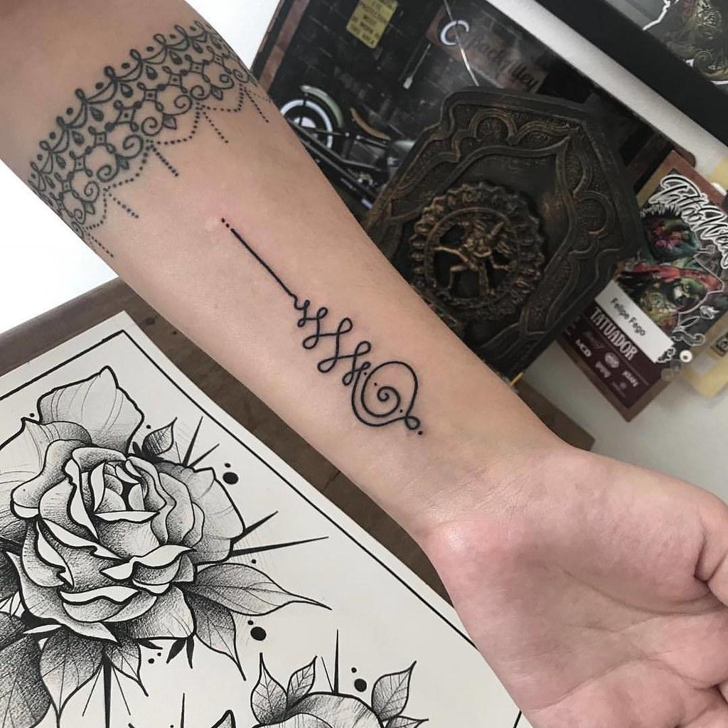 Tatuajes Unalome Tatuajes Unalome Mini Tatuajes Flickr