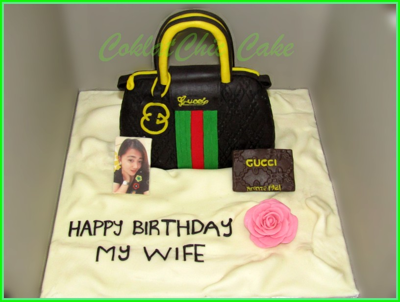 Cake tas Gucci my wife 15 cm