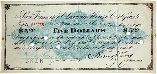 San Francisco Clearing House Certificate