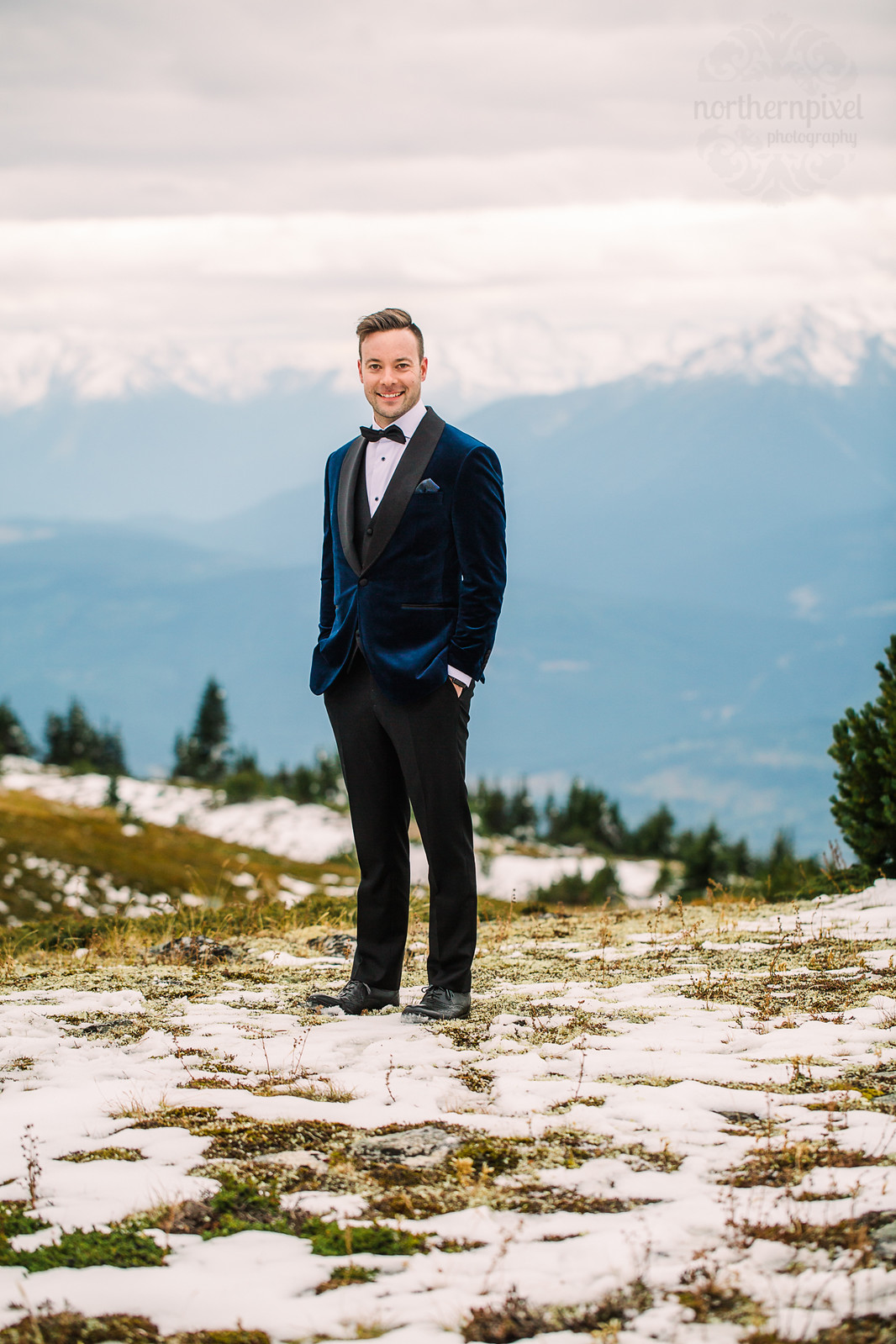Helicopter Mountaintop Wedding, Valemount BC