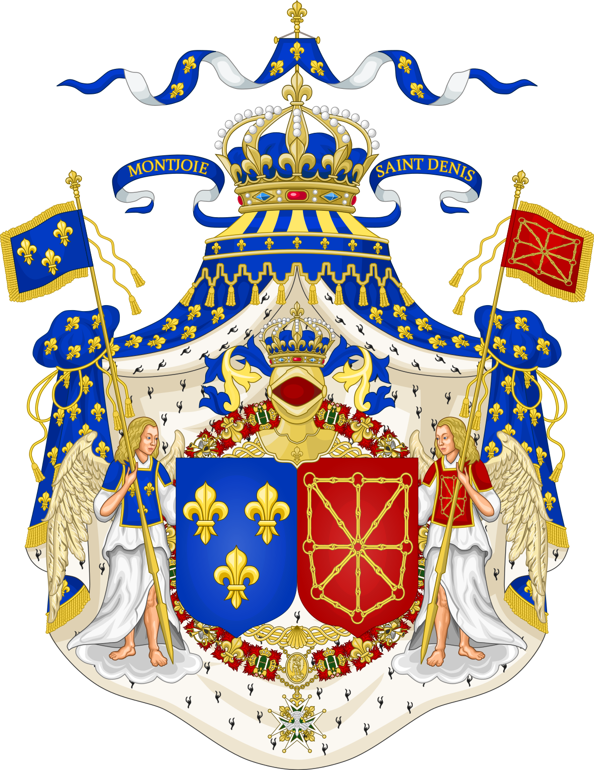 Grand Royal Coat of Arms of the Kingdom of France and Navarre