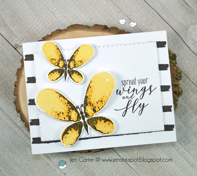 Jen Carter Spread Wings Faithful Flutterings Yellow
