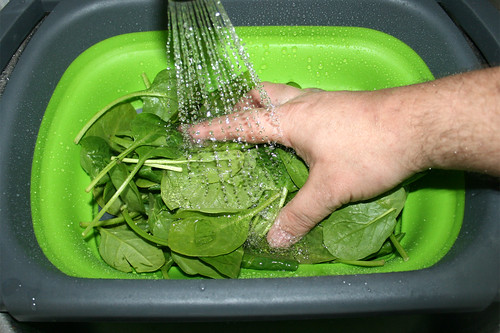 17 - Spinat waschen / Wash spinach