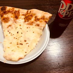 No words can describe this combination :P #Pizza #DrPepper