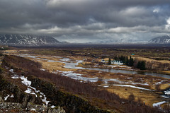 View of Þingvellir from the viewpoint
