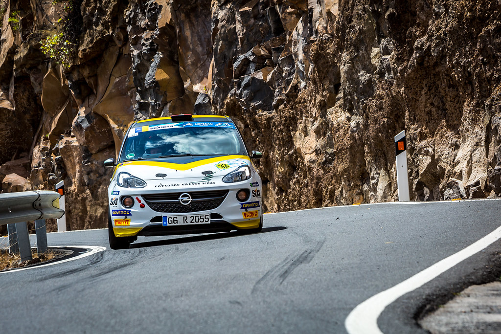 32 SESKS Martin, RENARS Francis, Adac Opel Rallye junior team, OPEL ADAM R2, action during the 2018 European Rally Championship ERC Rally Islas Canarias, El Corte Inglés,  from May 3 to 5, at Las Palmas, Spain - Photo Thomas Fenetre / DPPI