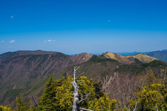 和名倉山への稜線@西御殿岩