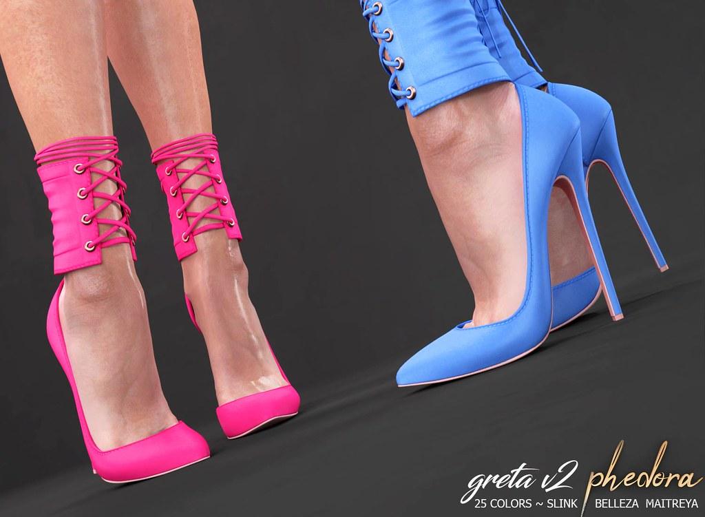 "Phedora NEW RELEASE For FLF!!!! ""Greta V2"" heels ♥"
