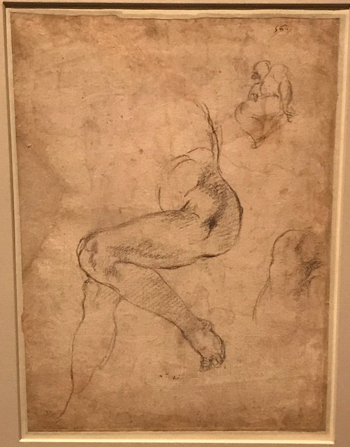 Michelangelo_Studies for the Libyan Sibyl on the Sistine Ceiling
