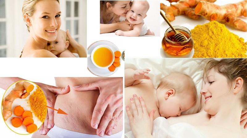 Tác dụng Tinh bột nghệ đối với phụ nữ sau sinh