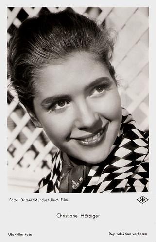 Christiane Hörbiger in Immer die Radfahrer (1958)