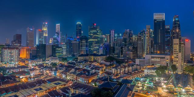 Singapore Cityscape HDR Twilight