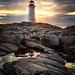 Peggy's Cove sunset by Nancy Rose