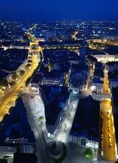 Nantes vue du ciel, de nuit :copyright: Bernard Grua