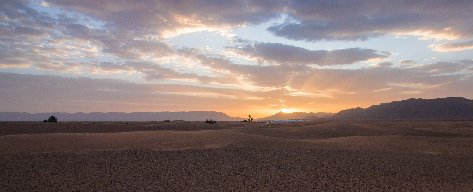 Sunrise in the Sahara Desert, Zagora, Morocco.