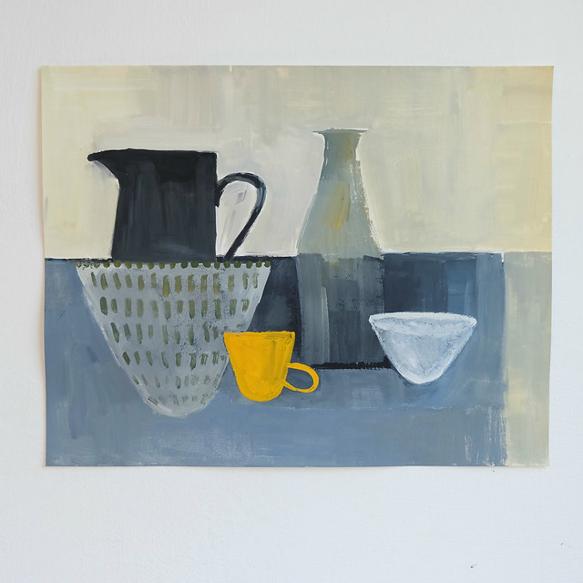 still life sketch - little yellow cup
