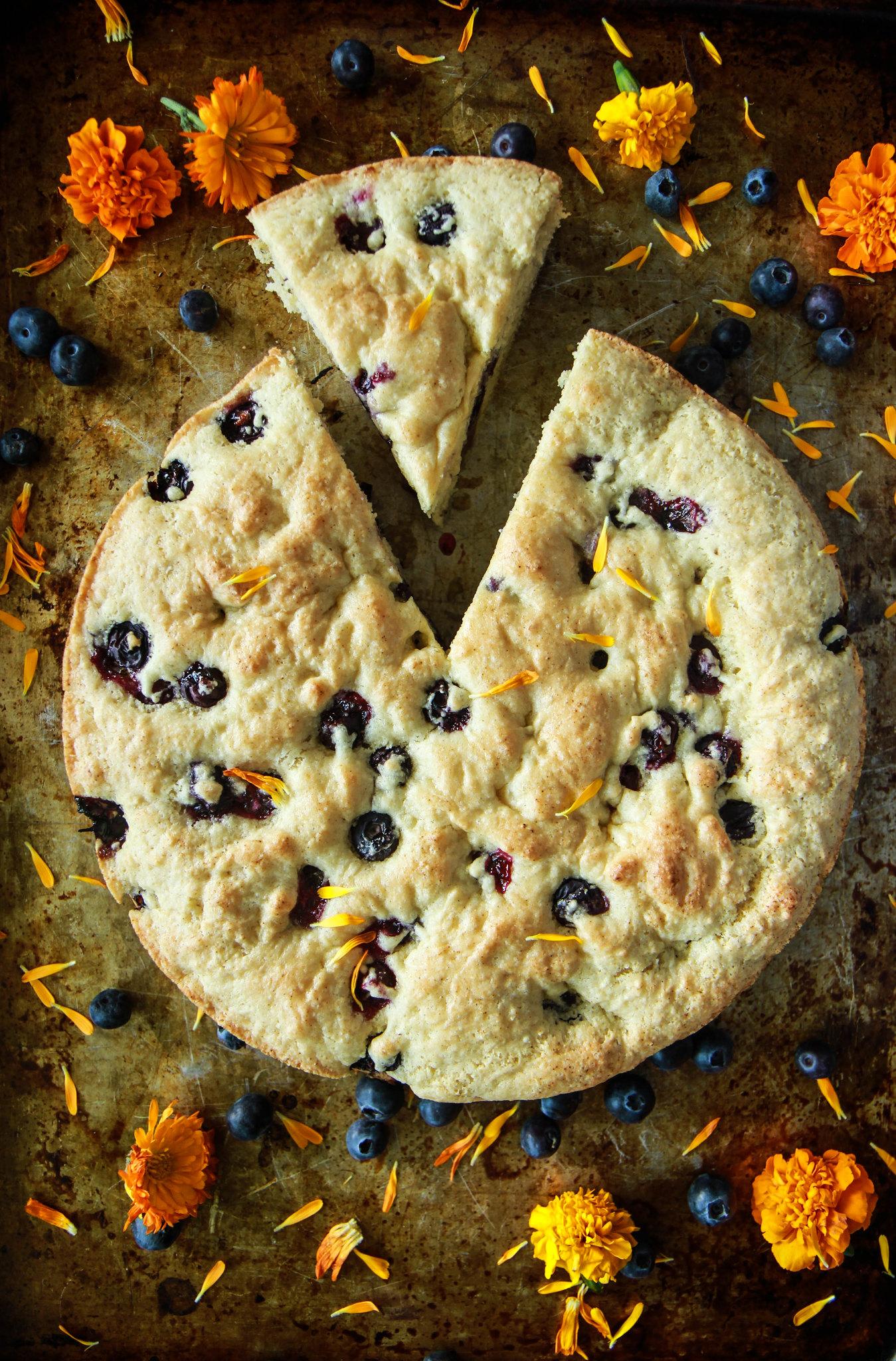 "Blueberry Ginger ""Buttermilk"" Cake- Vegan and Gluten Free from HeatherChristo.com"