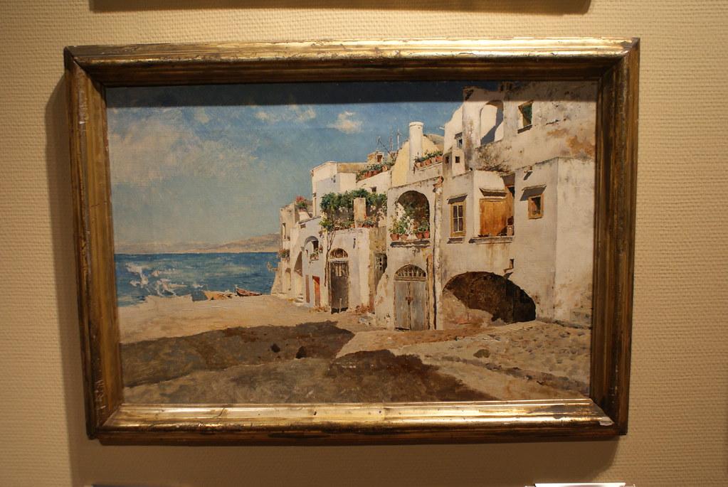 Case Bianche, grande marina di Capri d'Antonino Leto au musée GAM de Palerme.