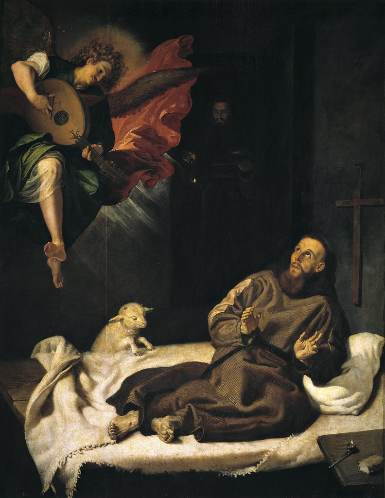 Francisco Ribalta - San Francesco confortato da un angelo (c.1620)