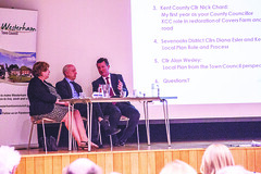 County Councillor Nick Chard, District Councillors Kevin Maskell and Diana Esler