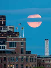Moonset over Baltimore Icons