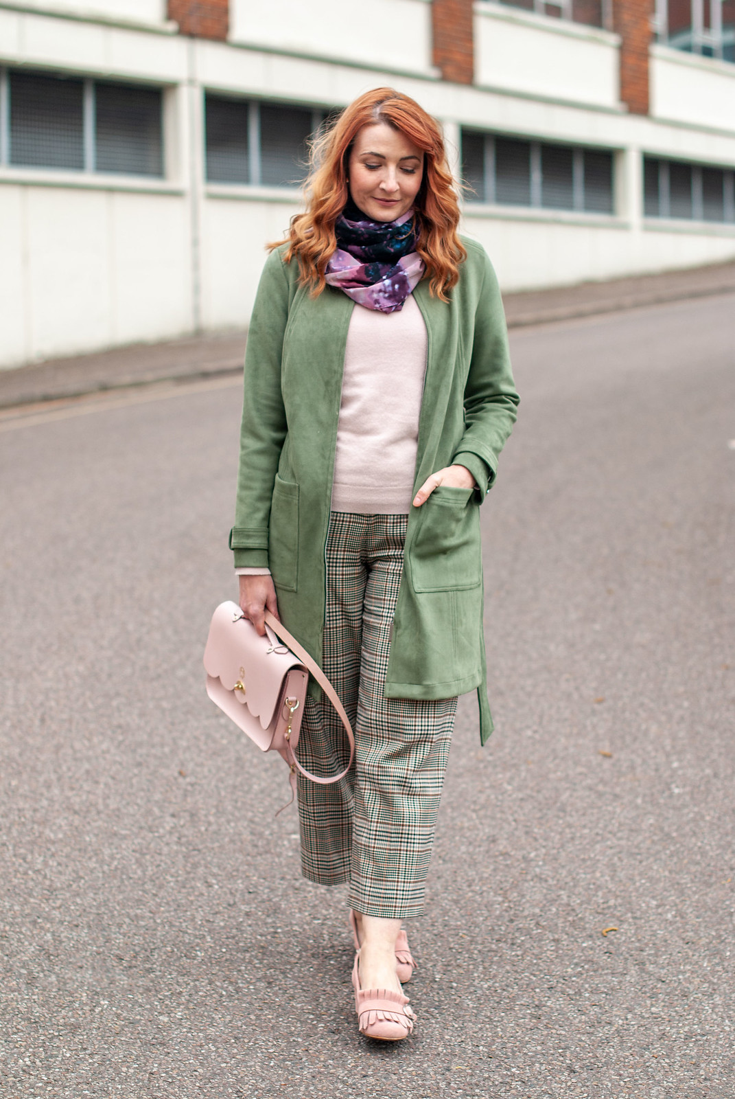Smart Dressing in Khaki and Pink for Cooler Spring Days | Not Dressed As Lamb, over 40 style / over 40 fashion / over 40 outfits
