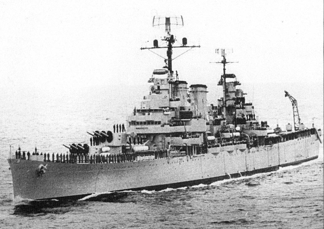 ARA General Belgrano underway.