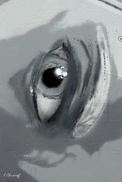 graff-1-the eye #explored 04052018, Canon EOS 100D, Canon EF 50mm f/2.5 Macro