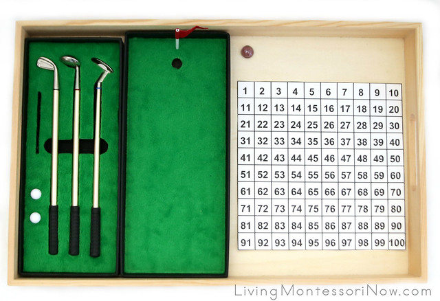 Miniature Golf Putting Game with Hundred Chart