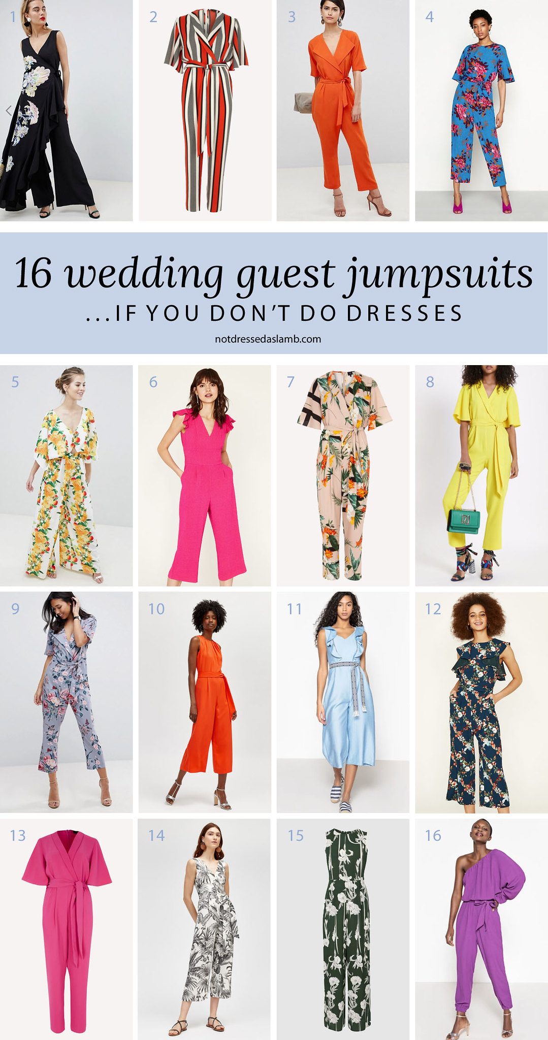 What to Wear to a Summer Wedding for All Shapes & Sizes: 16 Wedding Guest Jumpsuits if You Don't Do Dresses - Not Dressed As Lamb