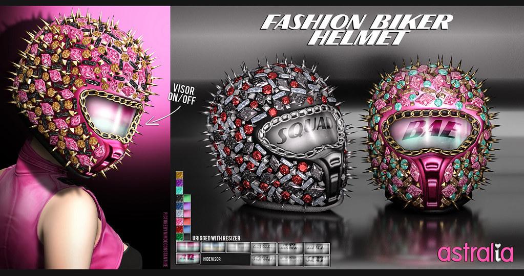 Fashion Biker Helmet - TeleportHub.com Live!
