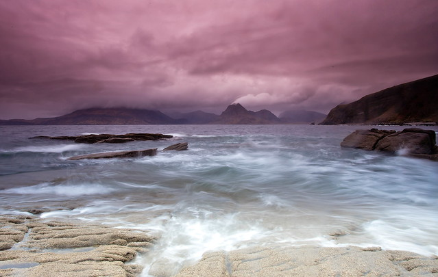 Stormy weather at Elgol, Skye