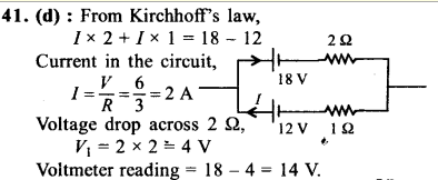 NEET AIPMT Physics Chapter Wise Solutions - Current Electricity explanation 41