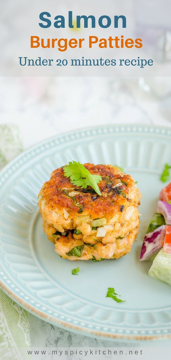 Healthy easy fresh salmon burgers under 20 minutes