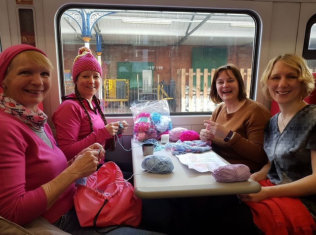 2018-03-04 Yarn bombers on train