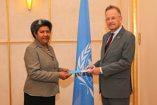 NEW PERMANENT OBSERVER OF PACIFIC ISLANDS FORUM PRESENTS LETTER OF NOMINATION TO THE DIRECTOR-GENERAL OF THE UNITED NATIONS OFFICE AT GENEVA
