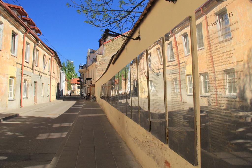 Constitution of Uzupis, Paupio Street, Vilnius