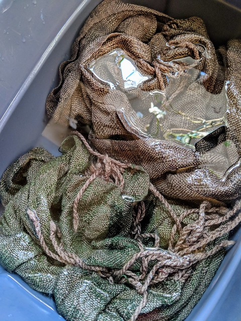 Soaking handwoven scarves for finishing by irieknit