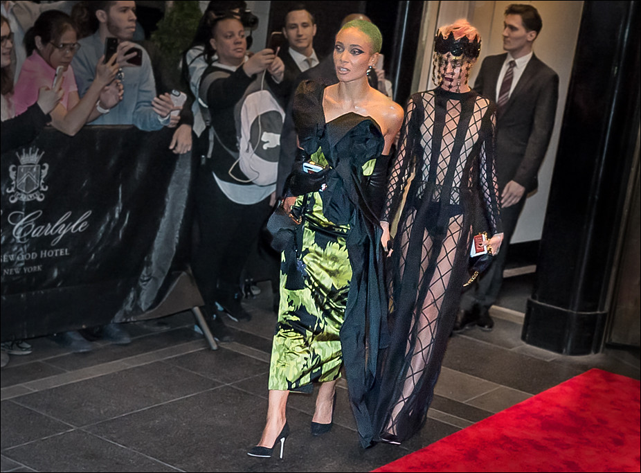 Cara Delevingne and Adwoa Aboah leave the Carlyle Hotel for the Met Gala