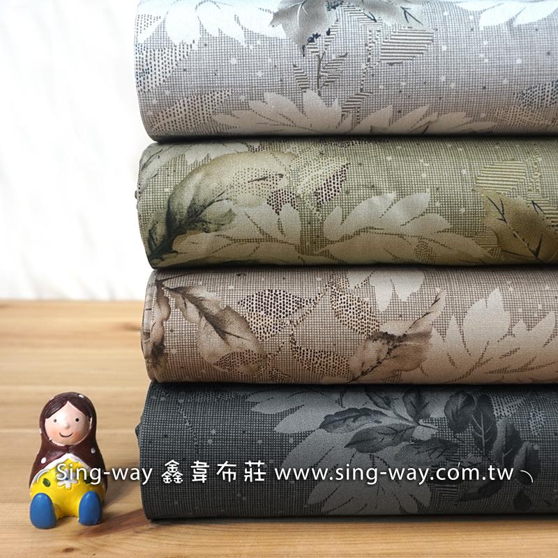 秋風落葉 楓葉 葉子 自然風 植物 文青風格 提袋 收納袋 手工藝DIy拼布布料 CA450736
