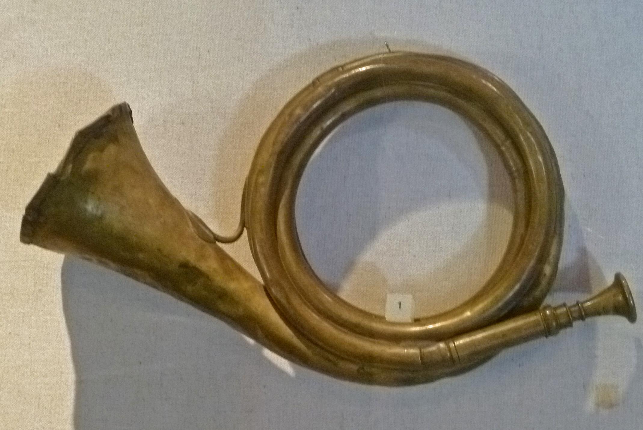Post horn (19th century); exhibition in the Spandau citadel, Spandau, Germany. Photo taken on September 14, 2011.