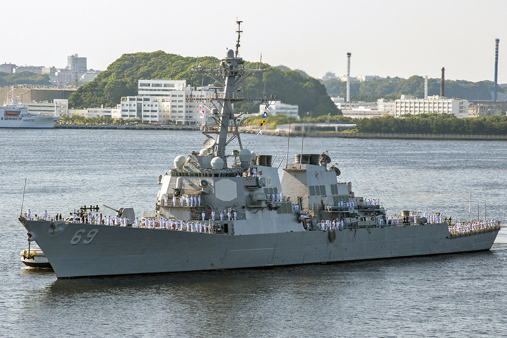 YOKOSUKA, Japan - The Arleigh Burke-class guided missile-destroyer USS Milius (DDG 69) arrived at U.S. Fleet Activities Yokosuka, to become part of the Forward Deployed Naval Forces (FDNF) in Japan, May 22.