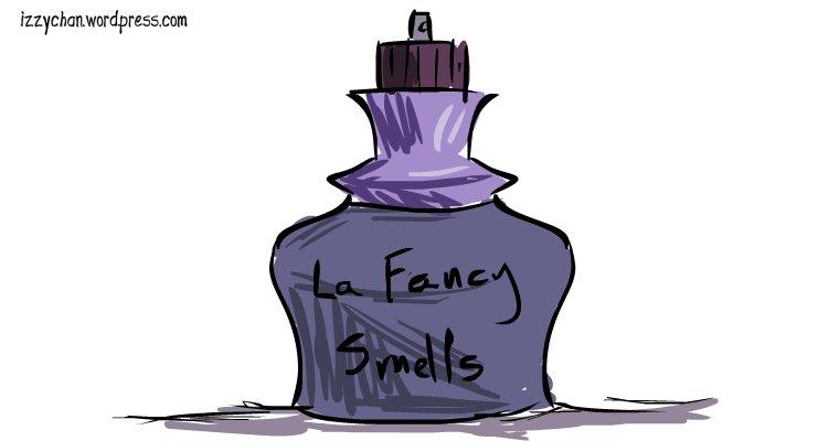 fancy purple perfume bottle