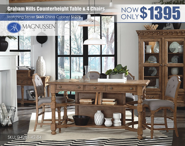 (4D) D4281_Graham Hills_DR_CONV4_Counterheight Table & Chairs