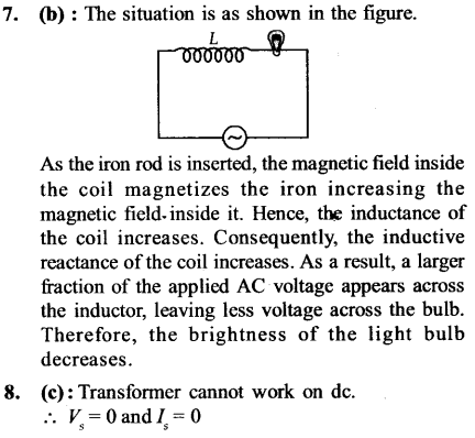 NEET AIPMT Physics Chapter Wise Solutions - Electromagnetic Induction and Alternating Current explanation 7,8